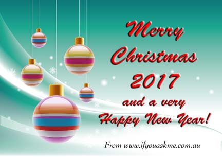 Merry Christmas 2017 from www.ifyouaskme.com.au.